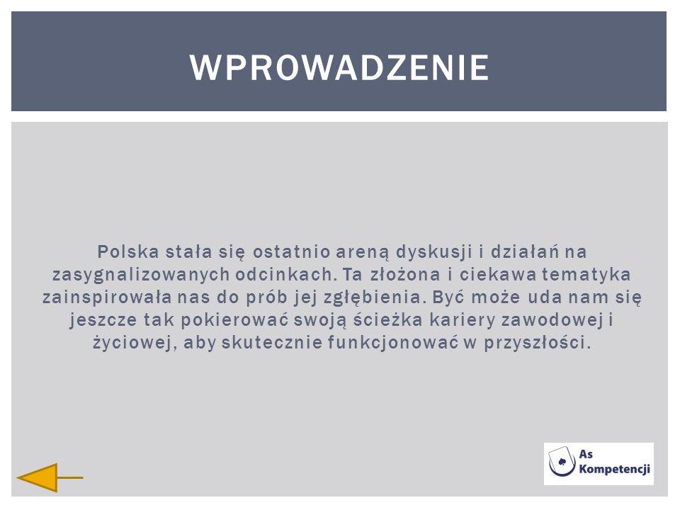 Polska stała się ostatnio areną dyskusji i działań na zasygnalizowanych odcinkach. Ta złożona i ciekawa tematyka zainspirowała nas do prób jej zgłębie