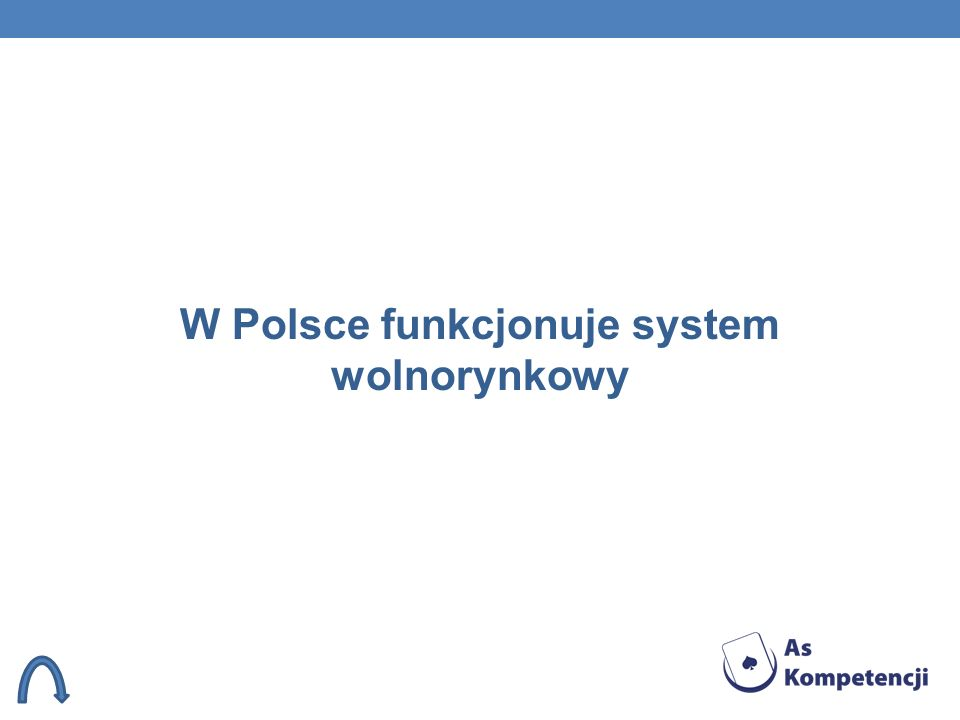 W Polsce funkcjonuje system wolnorynkowy
