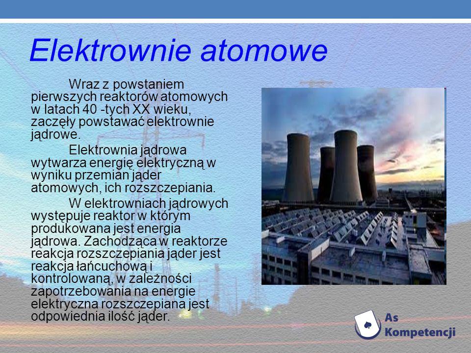 Elektrownie wykorzystujące energię cieplną oceanu (elektrowni maretermiczne) - energia cieplna oceanu i jej przemiana bazuje na zjawisku różnicy tempe