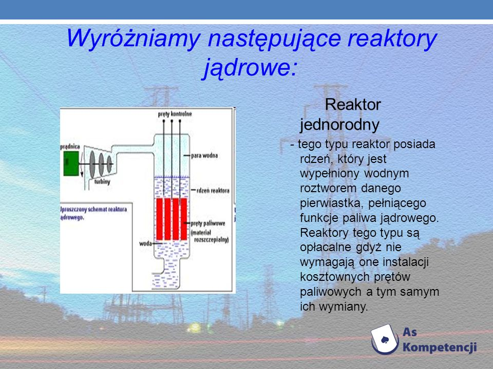 Elektrownie atomowe Wraz z powstaniem pierwszych reaktorów atomowych w latach 40 -tych XX wieku, zaczęły powstawać elektrownie jądrowe. Elektrownia ją