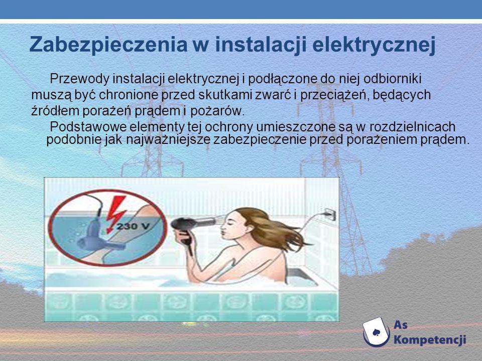 - używaj tylko tyle odbiorników prądu elektrycznego na ile obliczono moc instalacji elektrycznej - nadmierne obciążenie instalacji powoduje przegrzewa