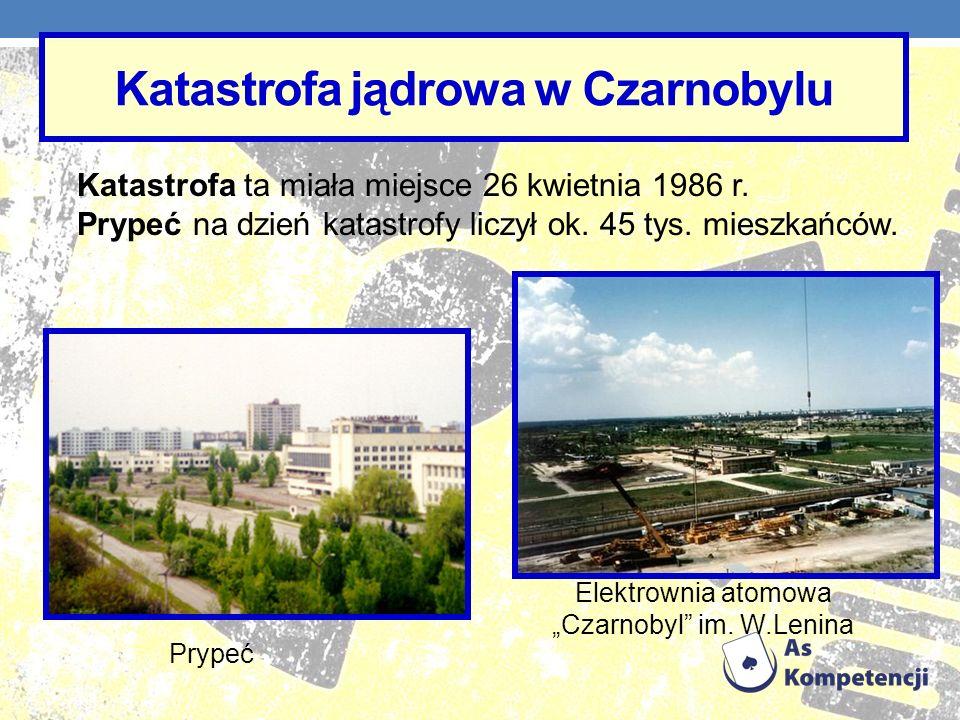 Katastrofa ta miała miejsce 26 kwietnia 1986 r. Prypeć na dzień katastrofy liczył ok. 45 tys. mieszkańców. Katastrofa jądrowa w Czarnobylu Prypeć Elek