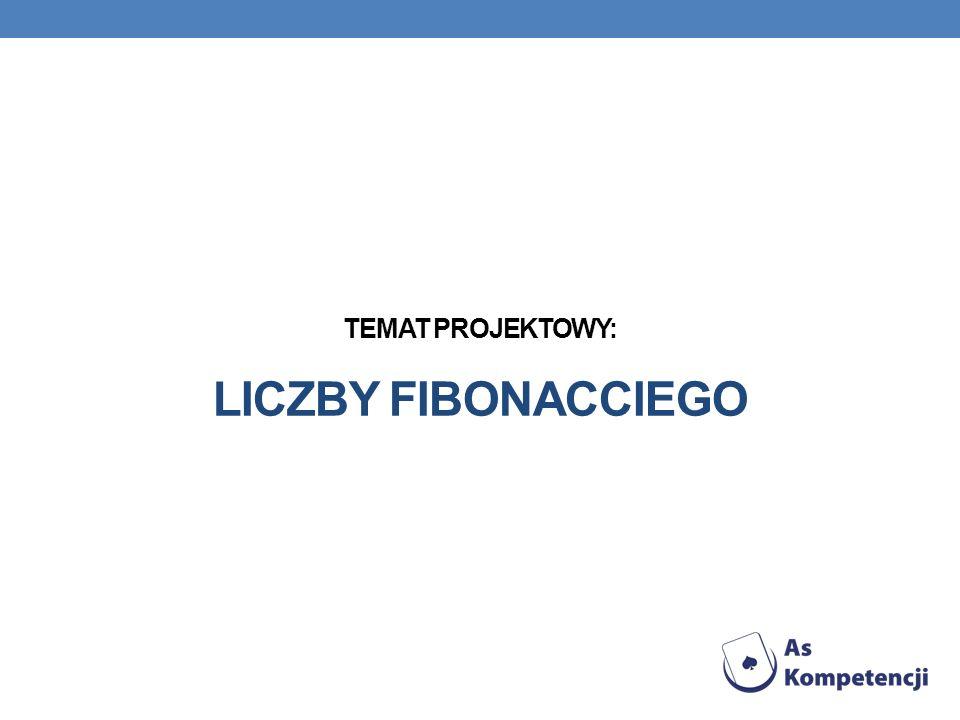 ZWIĄZEK CIĄGU LICZB FIBONACCIEGO Z LICZBAMI LUCASA Ciąg Lucasa jest pewną odmianą ciągu Fibonacciego, definiujemy go :