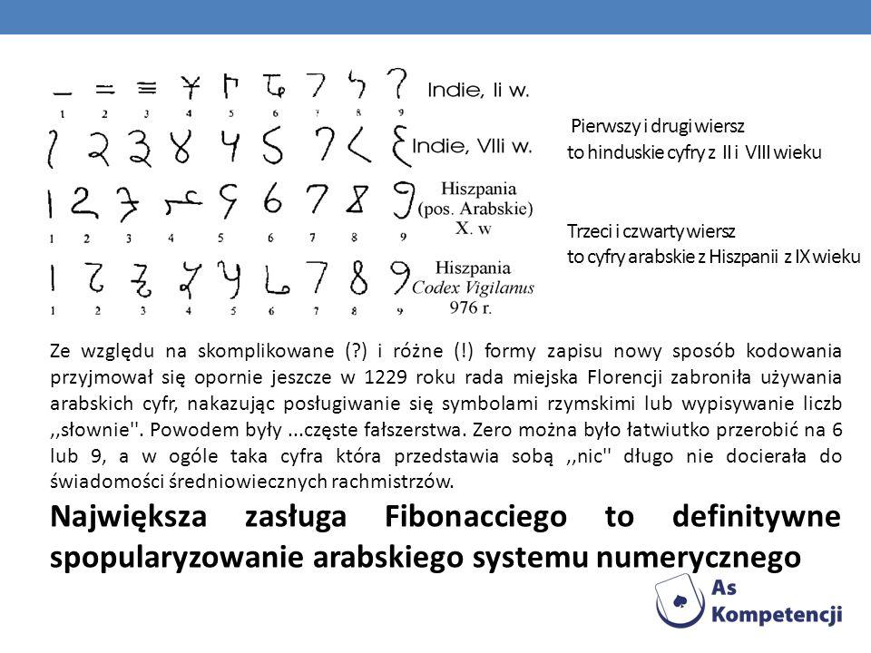 W Liber Abaci można znaleźć szereg ciekawych problemów matematycznych Znajdziemy tam zadania np.