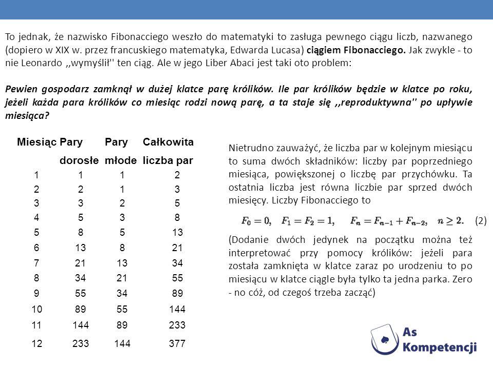 Liczby Fibonacciego są przykładem ciągu rekurencyjnego liczb całkowitych, który posiada cały szereg zaskakujących własności.
