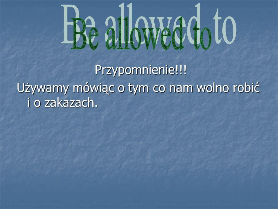 1.Z rozsypanki ułóż zdania: a) allowed/do/Im/to/my/homework Odp.