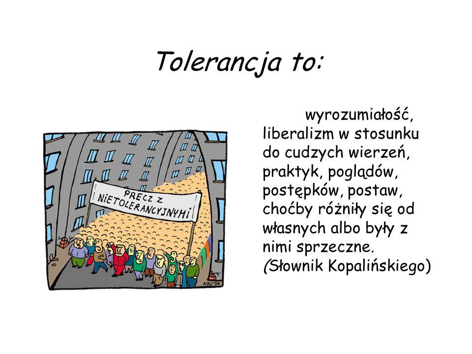 Nieco krócej: Tolerancja to dążenie do zrozumienia innych. Karel Čapek (pisarz czeski, 1890-1938)