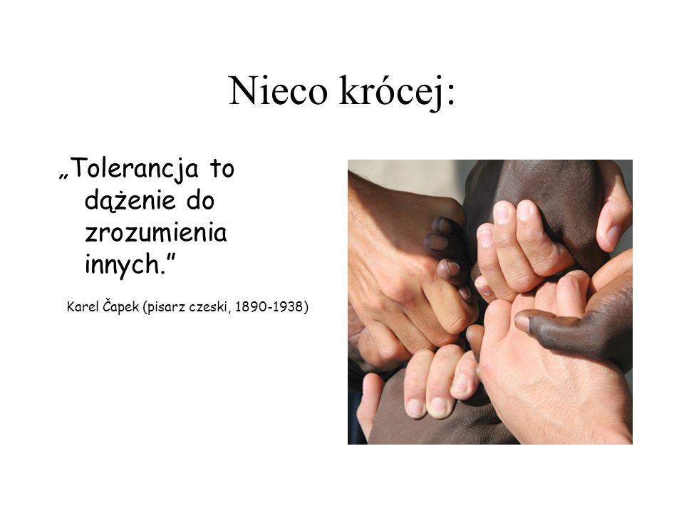 Tolerancja (łac.tolerantia - cierpliwa wytrwałość ; od łac.