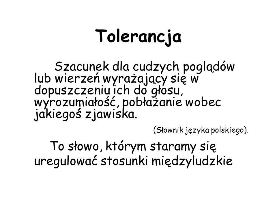 Skąd wiemy, że człowiek powinien być tolerancyjny.
