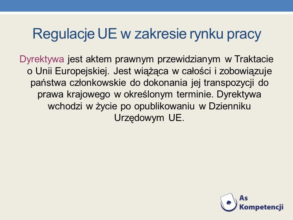 Dyrektywa jest aktem prawnym przewidzianym w Traktacie o Unii Europejskiej. Jest wiążąca w całości i zobowiązuje państwa członkowskie do dokonania jej