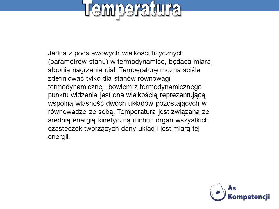 Jedna z podstawowych wielkości fizycznych (parametrów stanu) w termodynamice, będąca miarą stopnia nagrzania ciał. Temperaturę można ściśle zdefiniowa