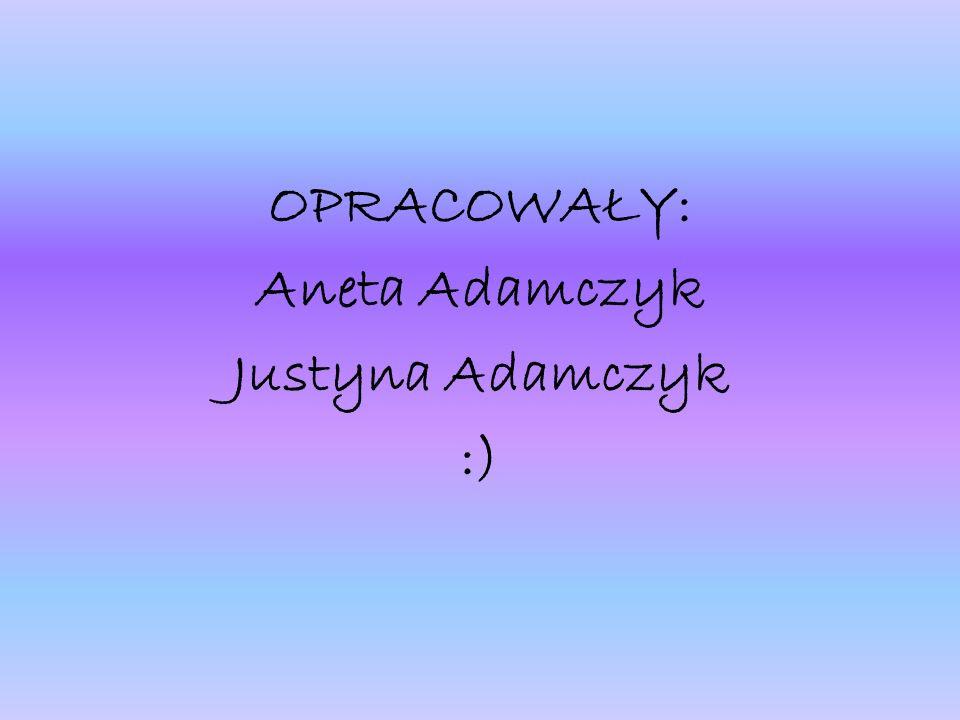 OPRACOWAŁY: Aneta Adamczyk Justyna Adamczyk :)