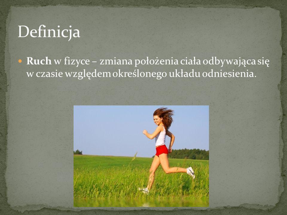 Ruch w fizyce – zmiana położenia ciała odbywająca się w czasie względem określonego układu odniesienia.