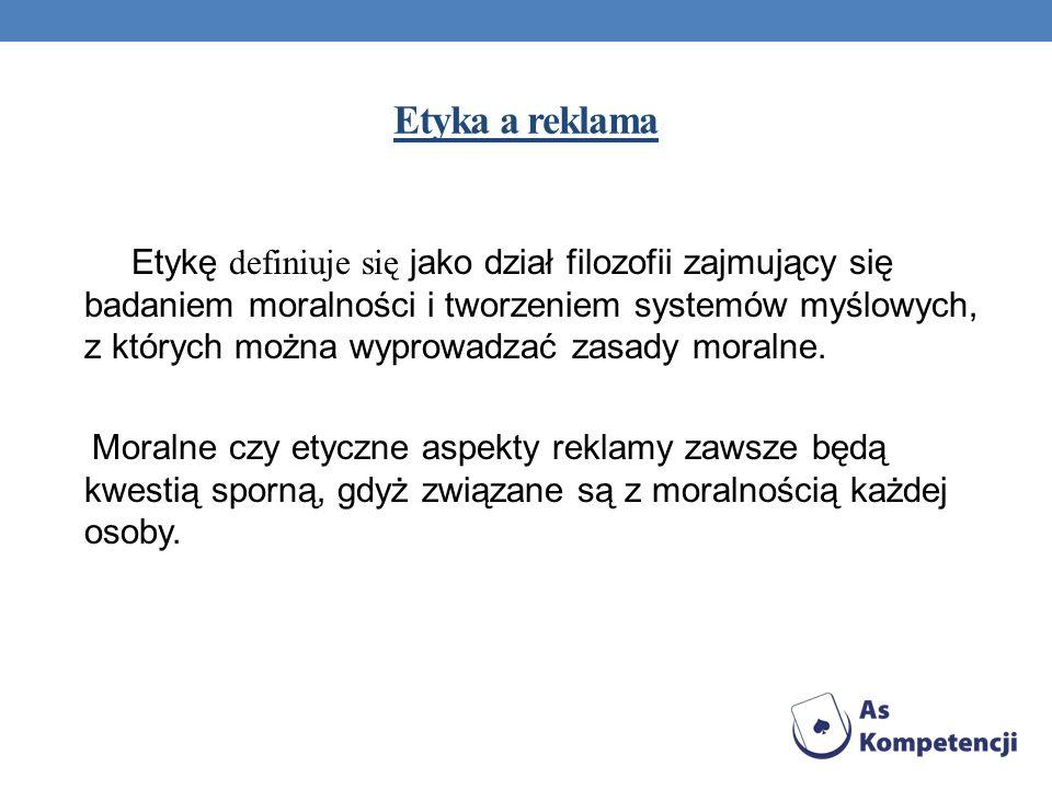 Kontrowersyjna, zakazana lub nieetyczna reklama w Polsce By na rynku reklamowym unikać sytuacji kontrowersyjnych i nieetycznych jak np.