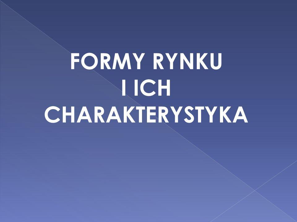 FORMY RYNKU I ICH CHARAKTERYSTYKA