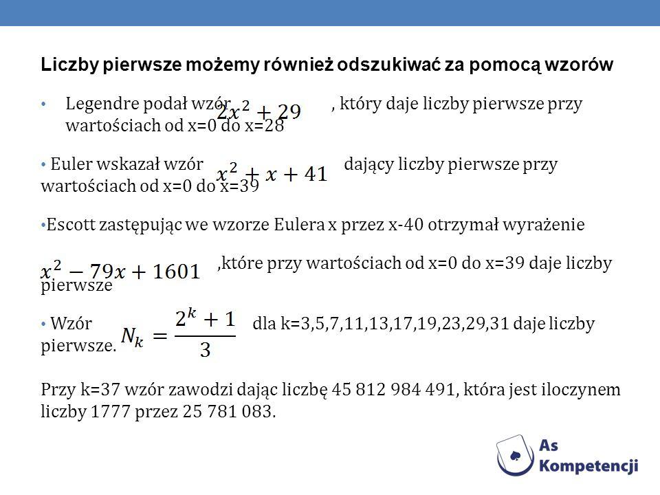 Rodzaje liczb pierwszych - Liczby bliźniacze Są to dwie liczby pierwsze różniące się o 2.