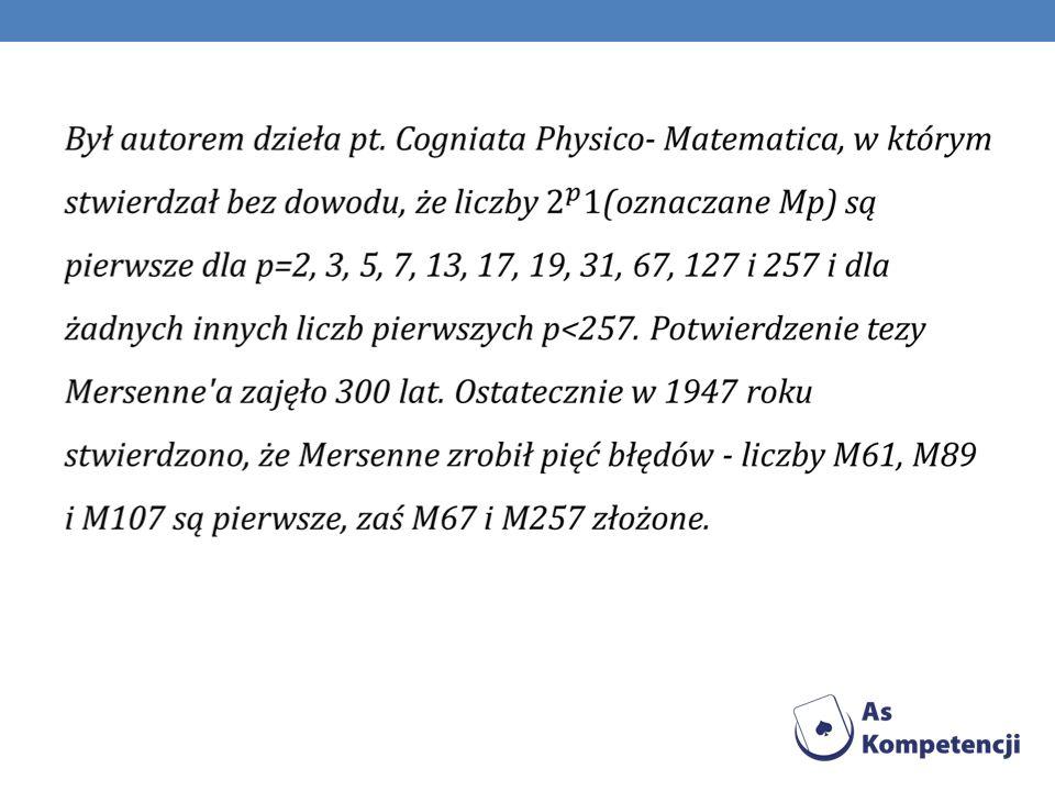 Test Lucasa – Lehmera Test pierwszości dla liczb Mersenne a.