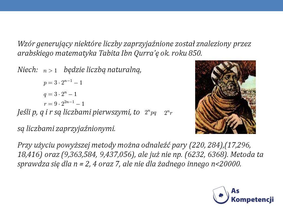 Liczbami zaprzyjaźnionymi zajmowała się ta sama grupa matematyków, która poszukiwała liczb pierwszych: Mersenne, Fermat, a także Kartezjusz.