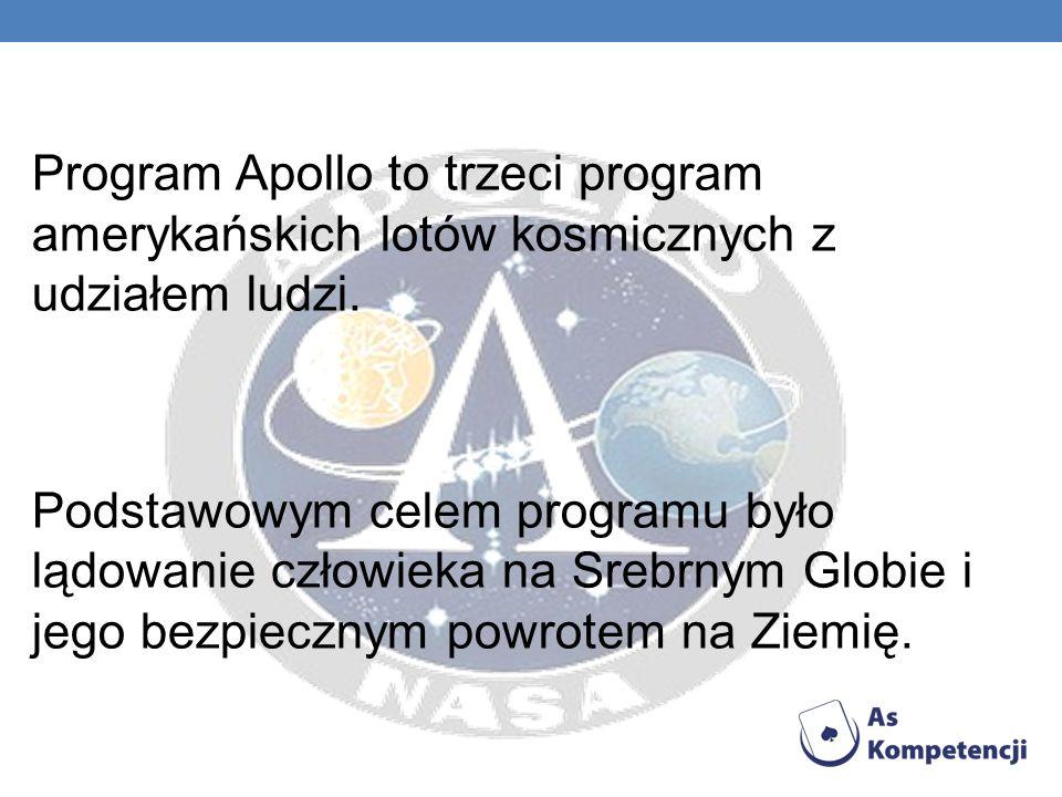 Program Apollo to trzeci program amerykańskich lotów kosmicznych z udziałem ludzi.