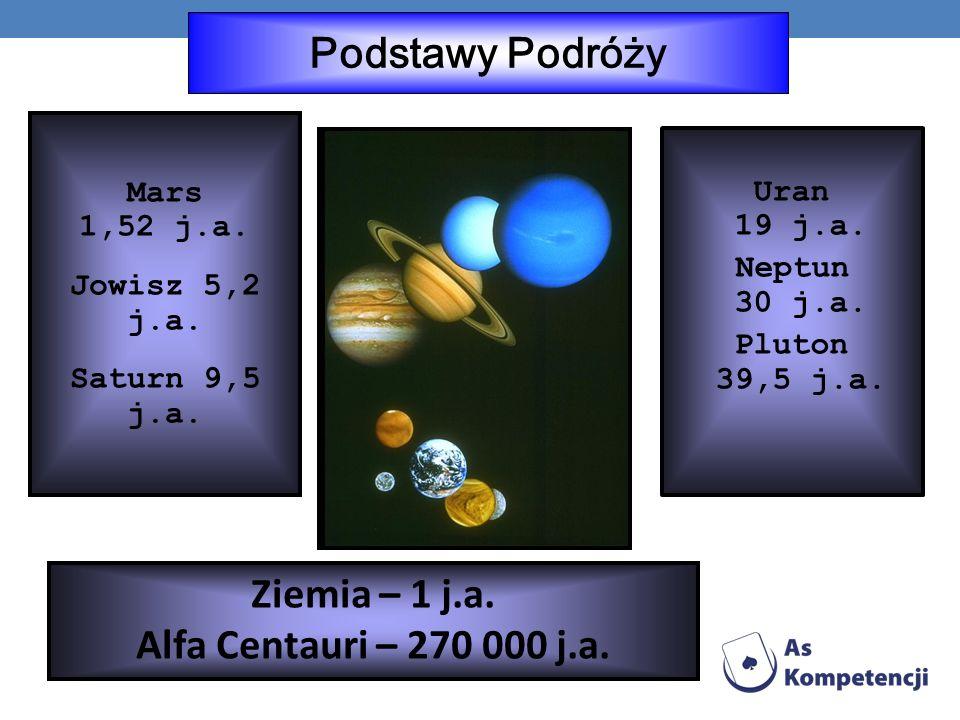 Podstawy Podróży Mars 1,52 j.a.Jowisz 5,2 j.a. Saturn 9,5 j.a.
