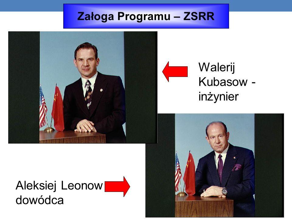 Aleksiej Leonow - dowódca Walerij Kubasow - inżynier Załoga Programu – ZSRR