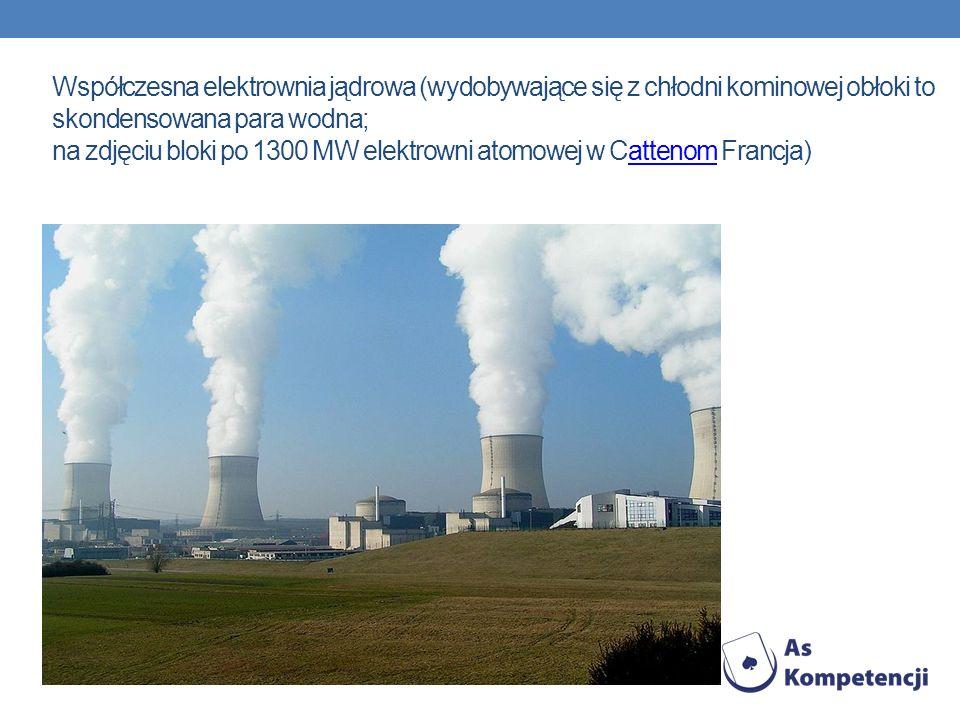 Współczesna elektrownia jądrowa (wydobywające się z chłodni kominowej obłoki to skondensowana para wodna; na zdjęciu bloki po 1300 MW elektrowni atomo