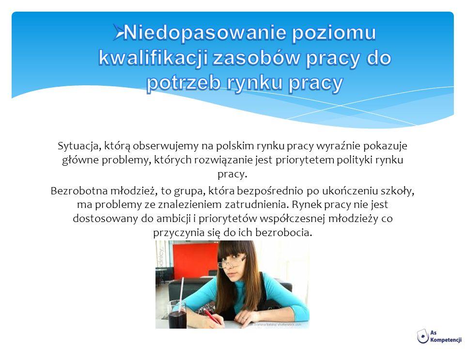 Sytuacja, którą obserwujemy na polskim rynku pracy wyraźnie pokazuje główne problemy, których rozwiązanie jest priorytetem polityki rynku pracy.