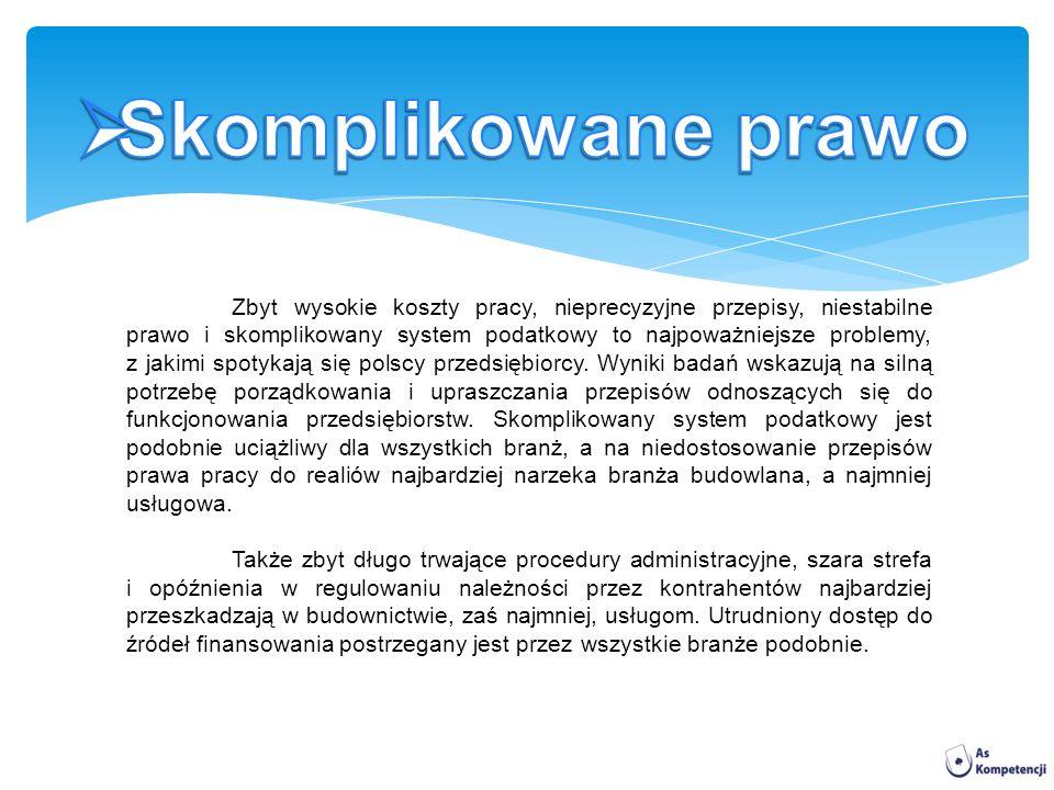 Zbyt wysokie koszty pracy, nieprecyzyjne przepisy, niestabilne prawo i skomplikowany system podatkowy to najpoważniejsze problemy, z jakimi spotykają się polscy przedsiębiorcy.