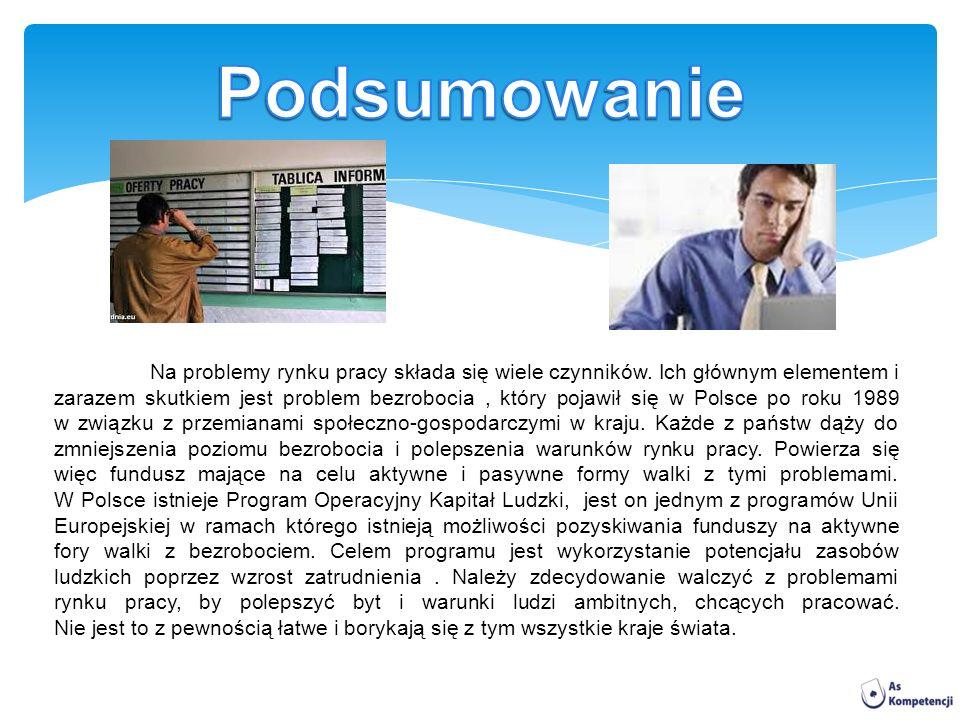 Na problemy rynku pracy składa się wiele czynników.