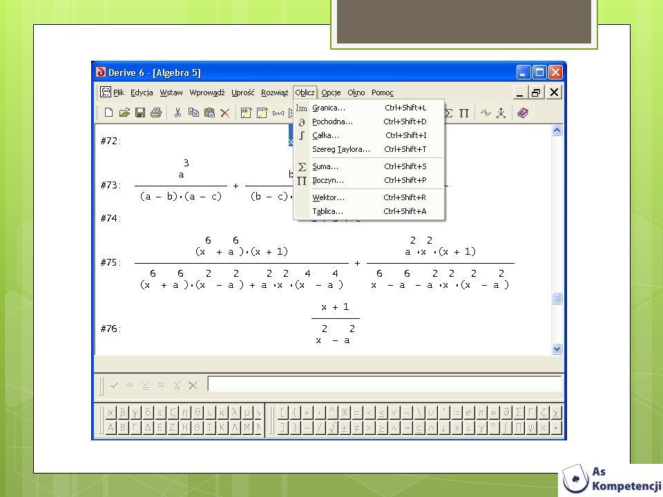 AnalyticMath 1.1.4 AnalyticMath to program matematyczny umożliwiający analizę wyrażeń matematycznych sposób wizualny.