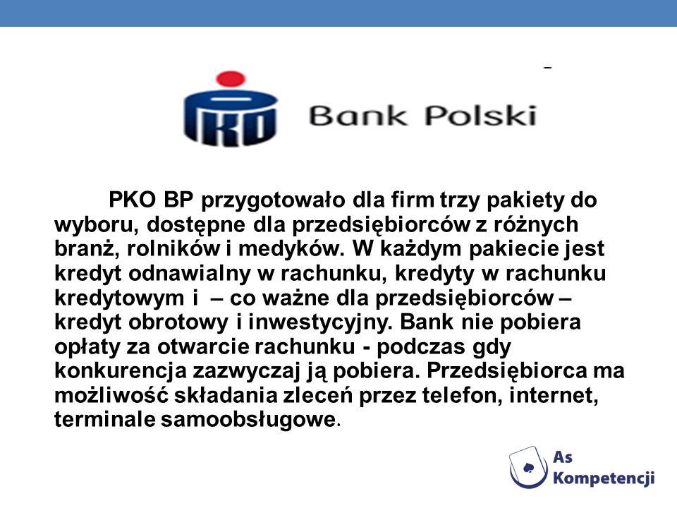 PKO BP przygotowało dla firm trzy pakiety do wyboru, dostępne dla przedsiębiorców z różnych branż, rolników i medyków. W każdym pakiecie jest kredyt o