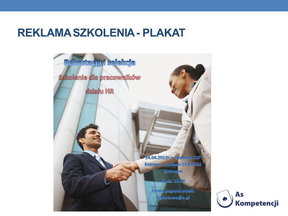 REKLAMA SZKOLENIA - PLAKAT