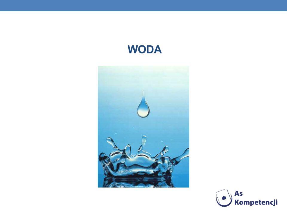 COŚ O WODZIE Woda (tlenek wodoru; nazwa systematyczna IUPAC: oksydan) – związek chemiczny o wzorze H 2 O, występujący w warunkach standardowych w stanie ciekłym.