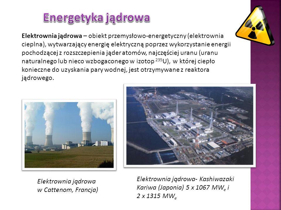 Elektrownia jądrowa – obiekt przemysłowo-energetyczny (elektrownia cieplna), wytwarzający energię elektryczną poprzez wykorzystanie energii pochodzącej z rozszczepienia jąder atomów, najczęściej uranu (uranu naturalnego lub nieco wzbogaconego w izotop 235 U), w której ciepło konieczne do uzyskania pary wodnej, jest otrzymywane z reaktora jądrowego.