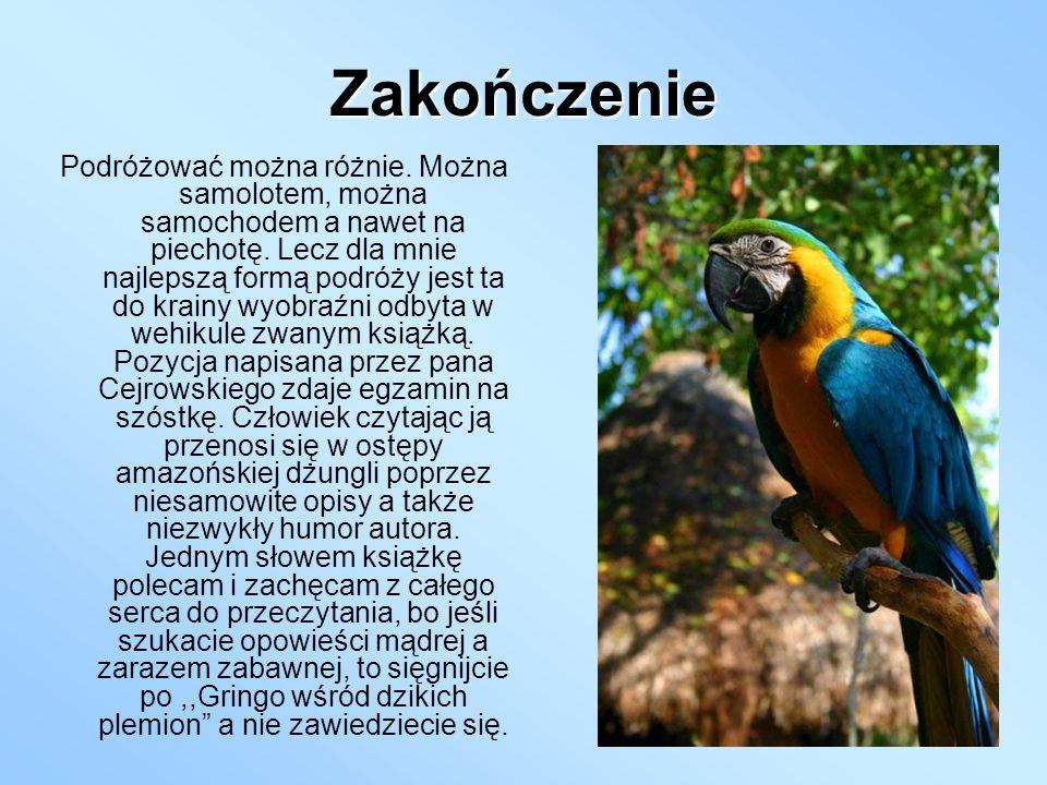 Bibliografia 1.http://pl.wikipedia.org/wiki/Wojciech_Cejro wski 2.,,Gringo wśród dzikich plemion 3.