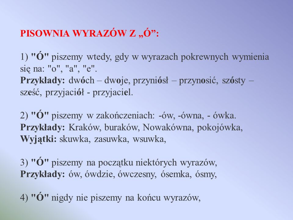 PISOWNIA WYRAZÓW WIELKĄ LUB MAŁĄ LITERĄ: Małą literą piszemy: - -nazwy pospolite (np.