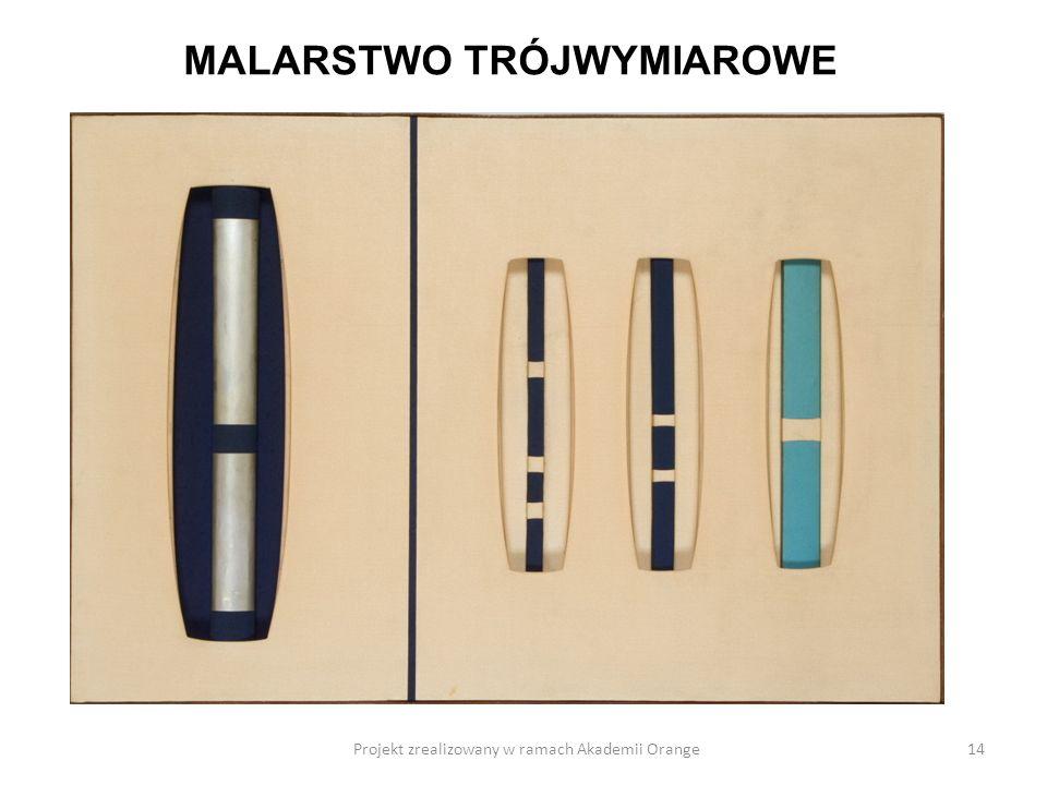 Projekt zrealizowany w ramach Akademii Orange14 MALARSTWO TRÓJWYMIAROWE