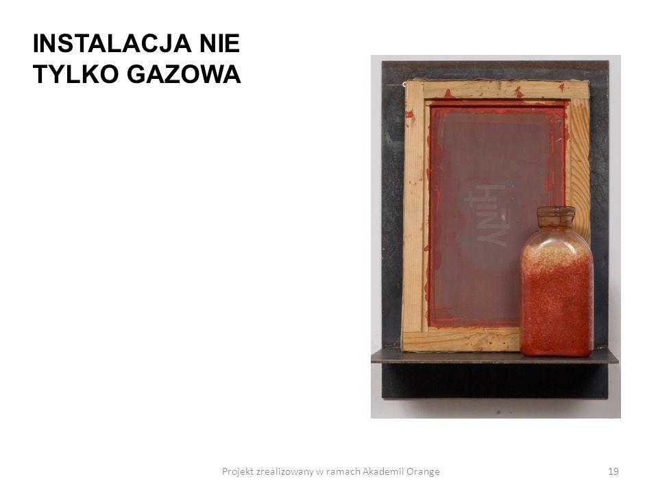 Projekt zrealizowany w ramach Akademii Orange19 INSTALACJA NIE TYLKO GAZOWA
