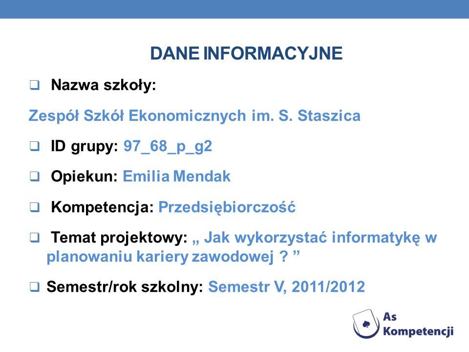 INNE E-PORADNIKI ZWIĄZANE Z PLANOWANIEM KARIERY http://poznajswiat.ecorys.pl/downloads/PDF/absolwent_na_rynku_ pracy_poradnik_dla_ucznia_i_nauczyciela_-_eksport.pdf http://poznajswiat.ecorys.pl/downloads/PDF/przewodnik_edukacyj ny_dla_ucznia.pdf