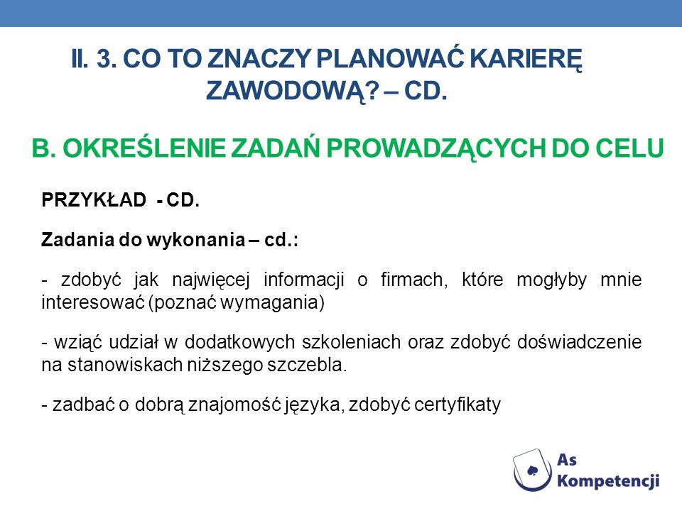 PRZYKŁAD - CD.