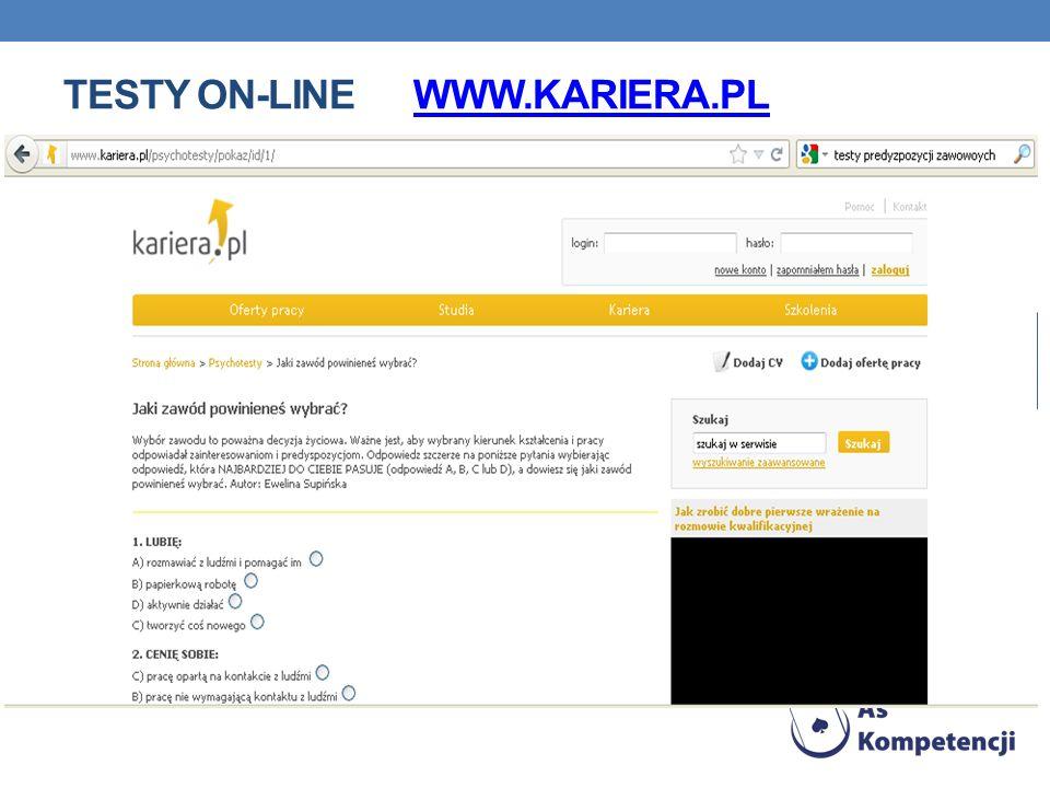 TESTY ON-LINE WWW.KARIERA.PLWWW.KARIERA.PL