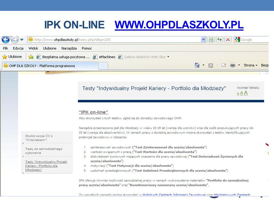 IPK ON-LINE WWW.OHPDLASZKOLY.PLWWW.OHPDLASZKOLY.PL