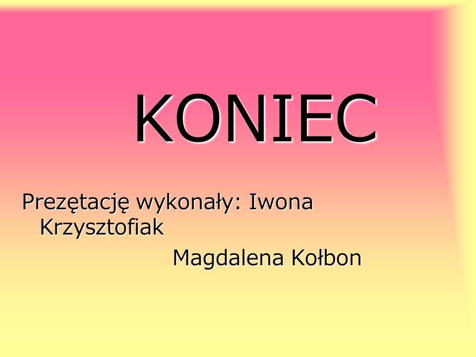 KONIEC Prezętację wykonały: Iwona Krzysztofiak Magdalena Kołbon Magdalena Kołbon