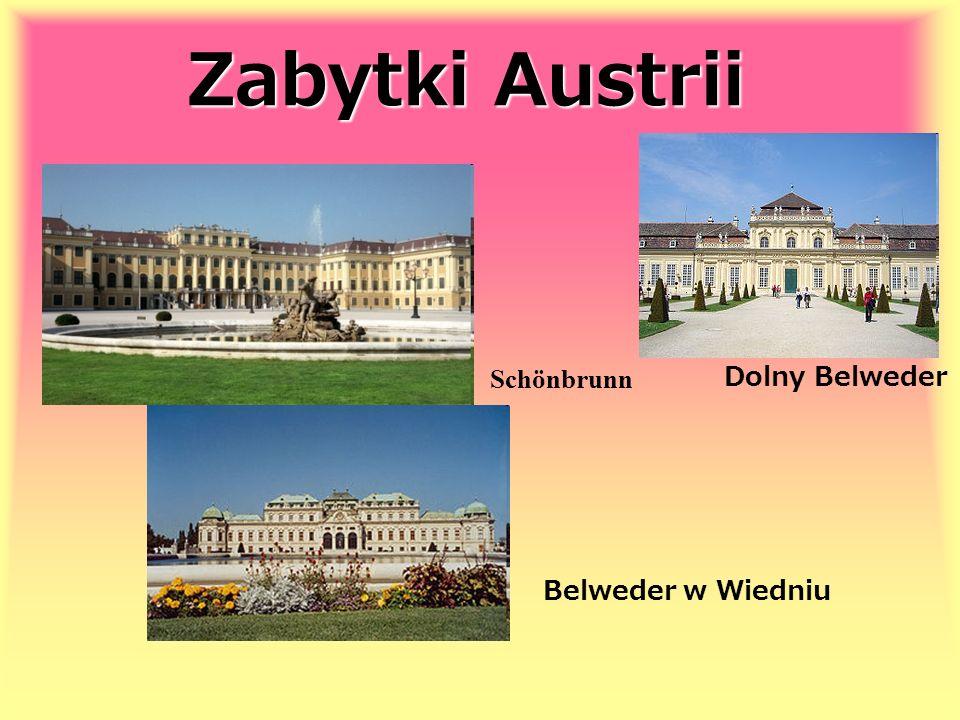 Zabytki Austrii Schönbrunn Belweder w Wiedniu Dolny Belweder