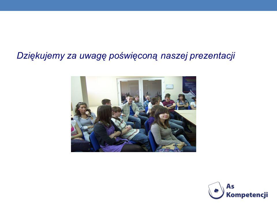 Dziękujemy za uwagę poświęconą naszej prezentacji