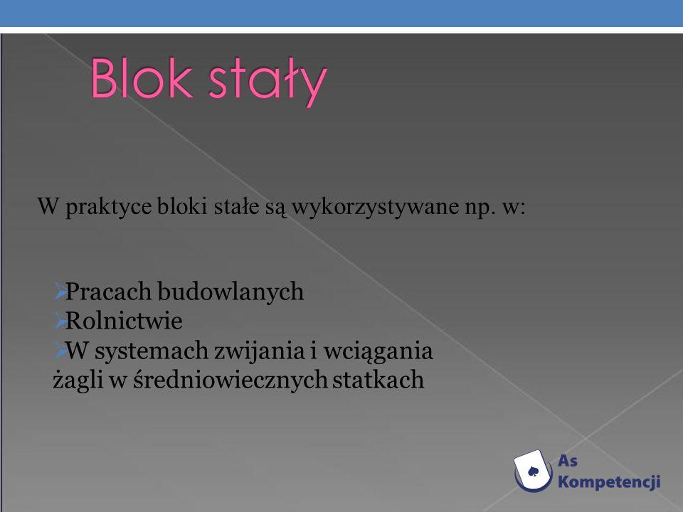 W praktyce bloki stałe są wykorzystywane np.