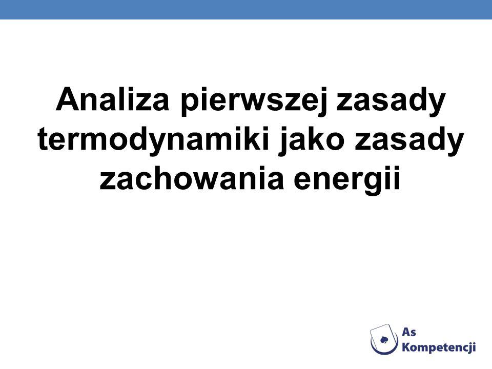 Analiza pierwszej zasady termodynamiki jako zasady zachowania energii