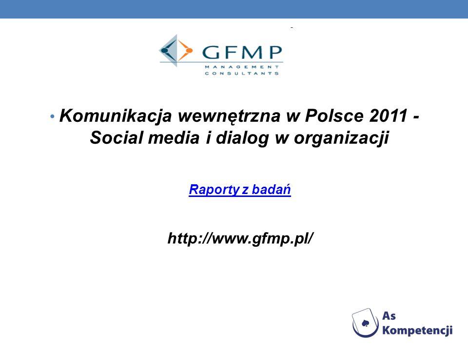 Komunikacja wewnętrzna w Polsce 2011 - Social media i dialog w organizacji Raporty z badań http://www.gfmp.pl/