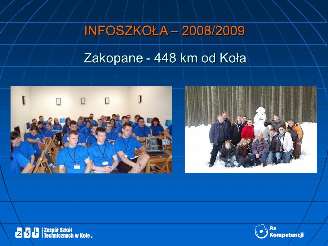 INFOSZKOŁA – 2009/2010 Biały Dunajec - 438 km od Koła