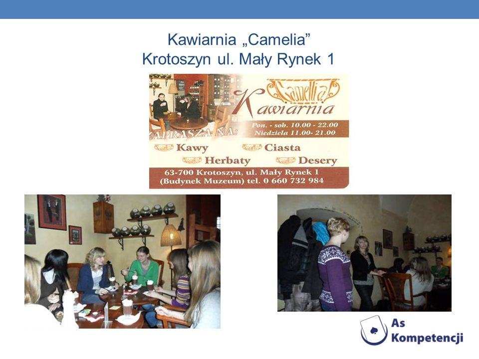 Kawiarnia Camelia Krotoszyn ul. Mały Rynek 1